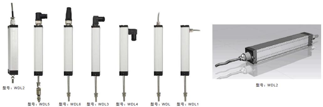 米朗WDL小型拉杆式直线位移传感器航空插头 注塑机电子尺